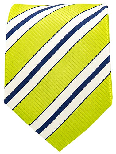 Neckties By Scott Allan - Striped Lime Green Men's Tie ()