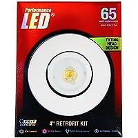 Feit LEDR4ADJ/830 65W Equivalent 4 Adjustable Retrofit Kit, Soft White by Feit