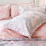 Brandream Girls Pink Pillow Case Standard Size Pillowcase Set of 2 100% Cotton
