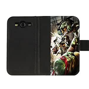 Custom TMNT Teenage Mutant Ninja Turtles Diary Leather Cover Case for SamSung Galaxy S3 I9300 High fabric cloth, hard plastic shell and leather cover