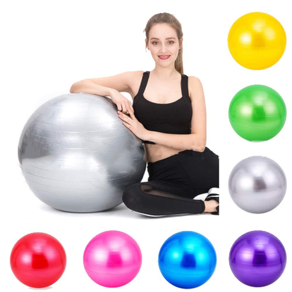 ZENWEN Balle De Yoga Balle De Yoga Balle De Fitness Balle De Yoga éPaissie Balle De Sport Femme Enceinte 65Cm Multi-Couleur en Option