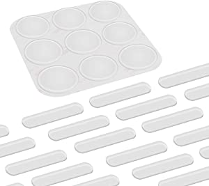 Shintop 39 Pieces Furniture Bumpers, Clear Adhesive Glass Top Bumpers with Door Frame Bumpers Noise Dampening and Anti-Scratch for Glass, Doors, Cabinets Drawers and Furniture Protection