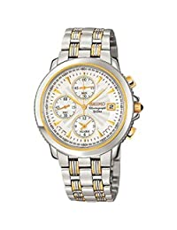 Seiko Men's Alarm Chronograph in Two tone steel and gold