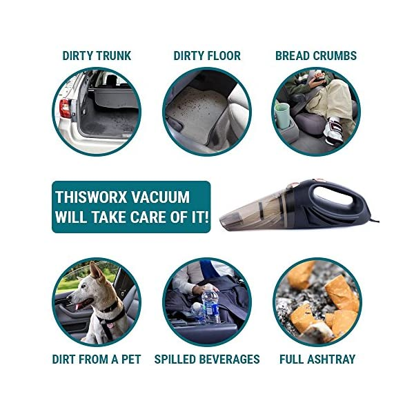 Car Vacuum Car Vacuum Cleaner Which Makes Your Auto Interior Dirt Free With High Power 106W Motor HEPA Filter 16 Feet Long Cord Portable Hand Held Black 12 Volt DC Car Vaccume Cleaner For Car