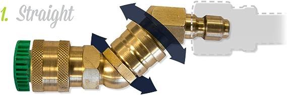 Wand Wizard Pressure Washer Attachment Multi-angle pressure wash swivel adapter