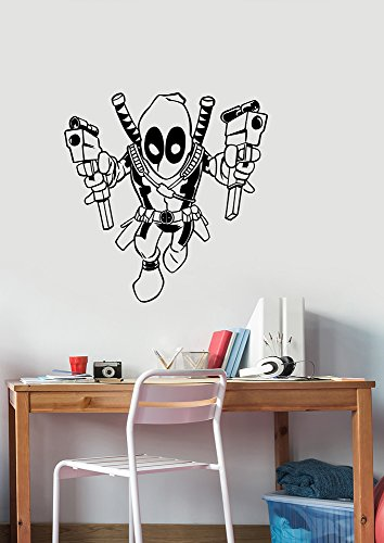 Deadpool Removable Wall Sticker Vinyl Decal Marvel for sale  Delivered anywhere in USA