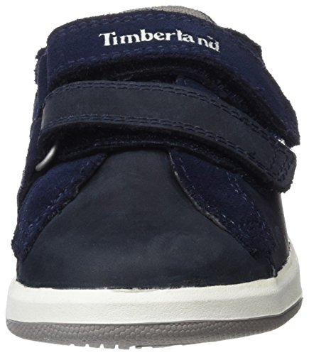 Timberland Unisex Baby Court Side H&l Oxblack Iris Saddleback Full Grain Lauflernschuhe Blau (Black Iris Saddleback Full Grain)