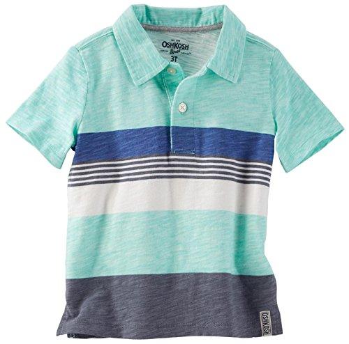 OshKosh B'Gosh Boys' Knit Polo Henley 31988011, Stripe (984) 7