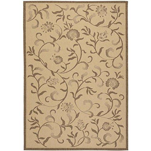 (Safavieh Martha Stewart Collection MSR4251-12 Crème and Brown Area Rug (6'7