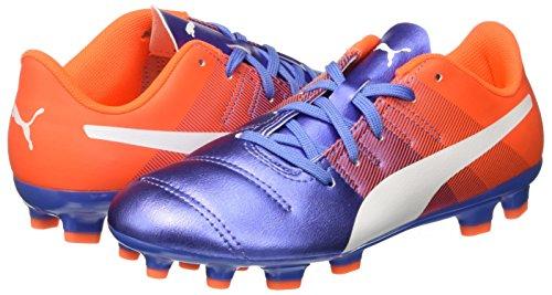 Puma evoPower 4,3 AG Jr Botas de Fútbol, Yonder/Puma White Blue/Orange Shocking, 1,5 mm