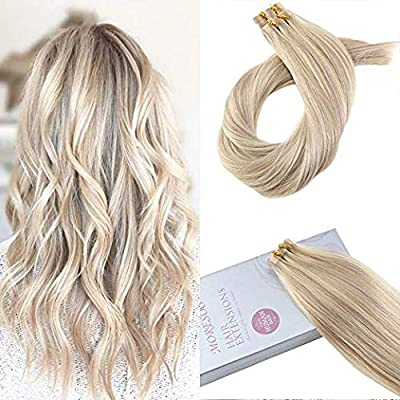 Moresoo Tape in Hair Real Human Hair Extension Tape Hair Extensions 20p Per Pack Tape Hair Remy Human Hair 12 Inch-28 Inch