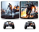 Cosines PS4 Slim Stickers Vinyl Decal Protective Console Skins Cover for Sony Playstation 4 Slim and 2 Controllers Battlefield 3 Soldier Army