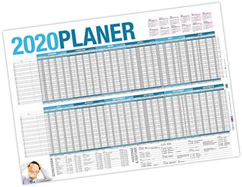 itenga Urlaubsplaner 2020 Wandkalender abwischbar DIN A1 (84,1 x59,4 cm) 250g/m² Personalplaner Mitarbeiter