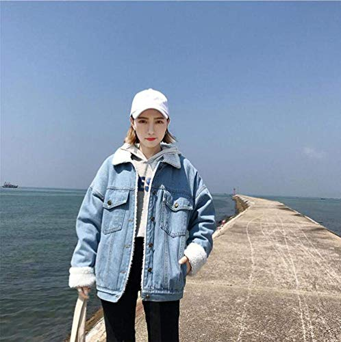 Chaquetas Botonadura Mujeres Casual De Mezclilla Manga Otoño Chaqueta Mujer Claro Larga Vaqueras Jacket Bolsillos Fashion Azul Abrigos Casuales Elegantes Primavera Jeans Classic Con Abrigo UUrWOwn7xA