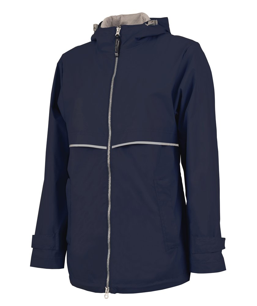 Charles River Apparel Women's Waterproof New Englander Rain Jacket True Navy/Reflective, XX-Large