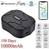TKSTAR Hidden Vehicles GPS Tracker,Waterproof Tracking Device GPS Locator with Strong Magnetic No installation ,10000mah 150 Days Standby,Geo-Fence SOS Alarm Real Time Tracking on Free APP for Cars SUVs Motorcycles Trucks Vehicles TK905B