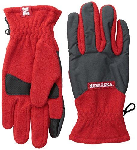NCAA Nebraska Cornhuskers Collegiate Overlay Glove, Bright Red/Grill, X-Small ()