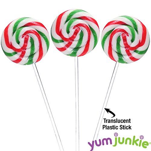 Swipple Pops Petite Swirl Ripple Lollipops - 60-Piece Tub (Christmas) -