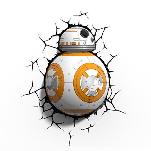 Comics+3D+Night+Lamp+ Products : 3D Light FX Star Wars BB-8 Droid 3D Deco LED Wall Light