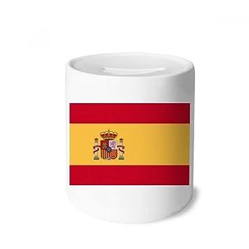 DIYthinker España Nacional a la Bandera Europa País Caja de Dinero de Las Cajas de ahorros de cerámica Adultos Moneda de la Caja para niños: Amazon.es: ...