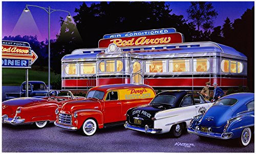 Red Arrow Diner (Variant 1) Poster Print by Bruce Kaiser (36 x ()