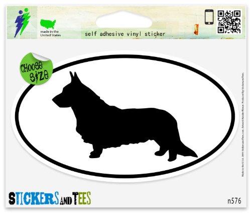 Cardigan Welsh Corgi Dog Breed Shape Oval Car Sticker Indoor Outdoor 5