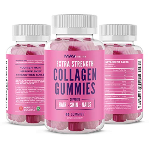 515ea8EL99L - MAV Nutrition Collagen Hair Vitamins Gummy for Men & Women, Anti-Aging Benefits with Vitamin C, Zinc Supplement & Biotin; Non-GMO, 60 Count
