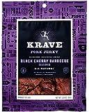 KRAVE Pork Jerky, Black Cherry Barbecue, 3.25 Ounce