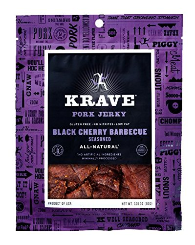 Krave Pork Jerky, Black Cherry Barbecue, 3.25 Ounce