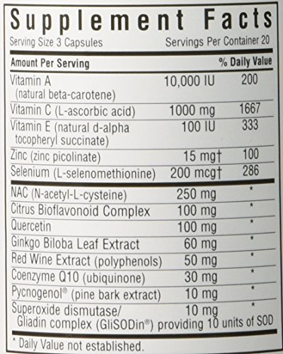 BlueBonnet Super Antioxidant Formula Vegetarian Capsules 60 Count Discount