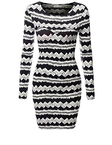 SJSP Women Short Dress Bodycon Multi Color PRINT33 Mini Dress,L