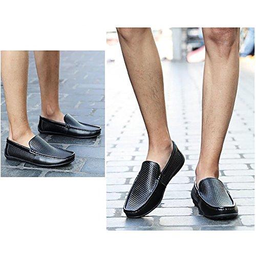 Automne Occasionnels Chaussures Slip Creux Et De 44 Out Respirant Conduite Mens En Cuir A Ons De Mocassins Occasionnelles Chaussures Hommes Printemps Marche Chaussures qOwaxntF