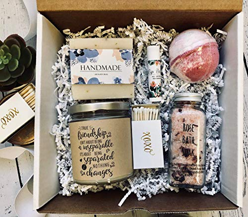 friendship long distance friend bestie mother's day gift Daughter Sister Spa Gift Set Birthday Get well encouragement candle soap bath bomb gift