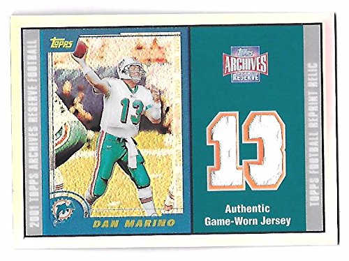 2000 Topps Reserve Game - DAN MARINO 2001 Topps Archives Reserve Refractor Game Worn Jersey patch #40