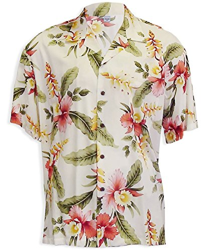 Two Palms Mens Sonic Orchid Shirt Beige 4X by Two Palms