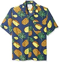 Amazon Brand - 28 Palms Men's Relaxed-Fit Vintage Washed 100% Rayon Tropical Hawaiian Shirt