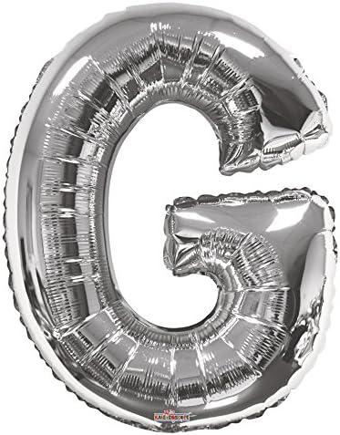 Kaleidoscope Jumbo Letter T Foil Mylar Balloon 34 Silver