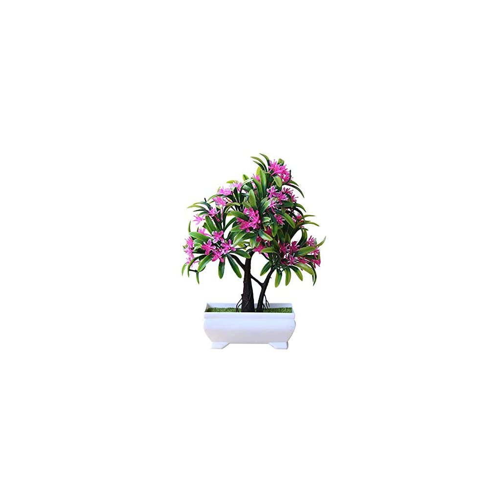 MARJON FlowersPc Garden Decoration Fake Plant Artificial Plastic Bonsai Tree Flower Ornament for Home Office Cafe