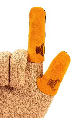 GF Gloves 8126L-100 Cowhide Leather Thumb Guard, Large, Yellow (Pack of 20) by GF Gloves