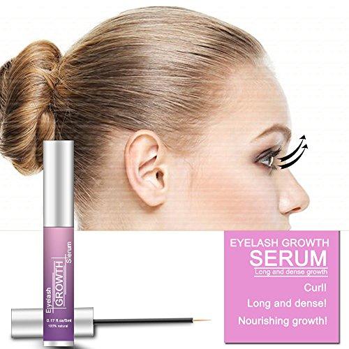 Eyelash Serum Eyelash Growth Serum Lash Enhancer Serum Eyelash Booster for Longer Fuller Eyelashes Eyebrow Enhancer Serum 5ml by Cafepola (Image #3)