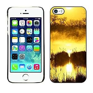 PC/Aluminum Funda Carcasa protectora para Apple Iphone 5 / 5S Sunset Beautiful Nature 50 / JUSTGO PHONE PROTECTOR