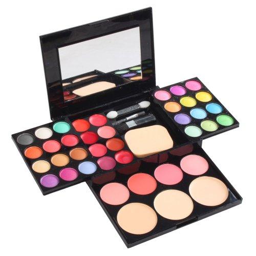 Puff profession 36 couleurs de maquillage cosmétiques fard à paupières 24 Kit Eye Shadow + 8 Lip Gloss Palette Maquillage +