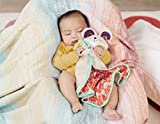 B. Toys – B. Snugglies - Fluffy Bunz The Bunny Security Blanket – Adorable Baby Blankie with Soft Fabric