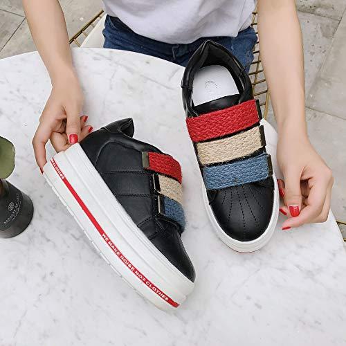 y Mujer Femeninos de Hasag Zapatillas de Zapatos Mujer Deporte Zapatos otoño Estudiantes Primavera Casual Velcro nuevos Plataforma de FzR5S