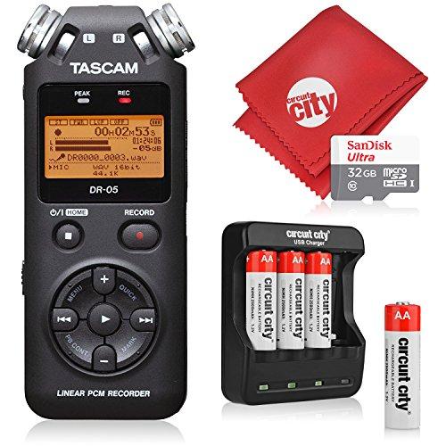 e Handheld Digital Audio Recorder with Basic Accessory Bundle - (Black) ()