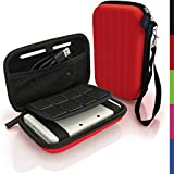 iGadgitz Red EVA Hard Travel Carry Case Cover for New Nintendo 3DS XL 2015 with Clip On Carry Strap