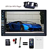 EinCar 7'' Touch Screen Car Stereo Radio Receiver Double 2 Din In Dash GPS Navigation Car MP5 MP3 Player Bluetooth Car Audio Multimedia System Support 1080P Video AUX +Backup Camera