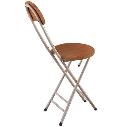 Amazon.com: Lxynb silla nórdica pequeña y cómoda, plegable ...