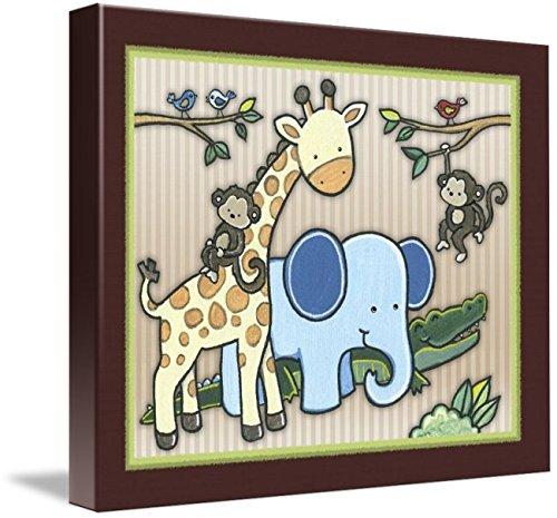 Kidsline Jungle 123 - Imagekind Wall Art Print entitled Jungle Buddies by Cheryl Marie   10 x 8