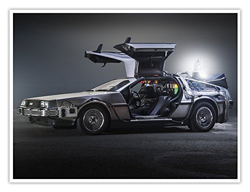 (Steves Poster Store Delorean Car Back to the Future Movie Time Machine Photo Poster Handmade Giclée Gallery Art Print Side View (18x24))